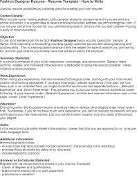 Fashion Designer Resume Format – Globalhood.org