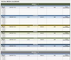 create a schedule in excel 12 free social media templates smartsheet
