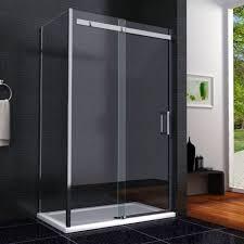 1400 x 900 frameless shower enclosure sliding door side panel easyclean glass