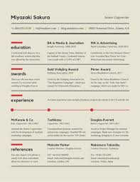 Copywriter Resume Template Best of Sectioned Copywriter Resume Templates By Canva