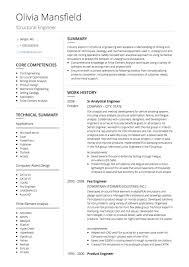 Civil Engineer CV example