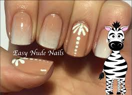 Nail Art Holographic Nude Nails Lace Design YouTube. Naked Nails ...