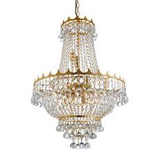 searchlight 9112 52go versailles 9 light crystal chandelier gold sunset lighting
