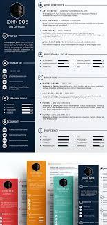 Creative Templates For Cv Resume Template Psd Free Download