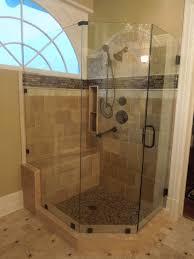 free frameless shower door with shower enclosure