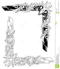 черно белые графические установленные рамки татуировки иллюстрация