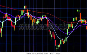 Tablet Computer Stock Chart Live Investor Stock Photo Edit