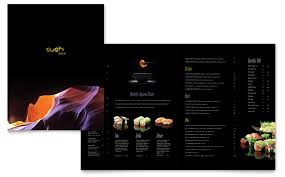 Microsoft Word Restaurant Menu Template Extraordinary Sushi Restaurant Menu Template Word Publisher