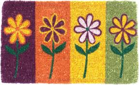 Welcome Doormats | Painted Flowers | Welcome Mats | Coco Mats N' More