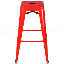 shocking red single metal kitchen chairs with footstool