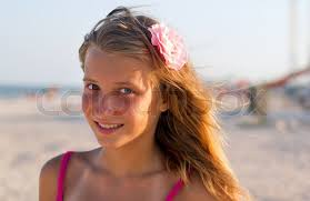 Pretty smiling teen photo
