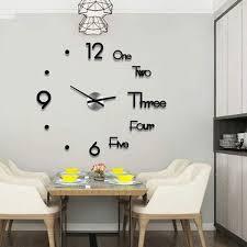 modern design wall clock dymmed