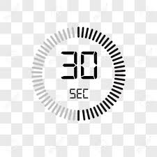 30 Sec The 30 Seconds Vector Icon Isolated On Transparent Background