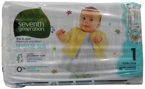 seventh generation baby diapers free and clear for sensitive skin with animal prints size 1 160