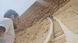 مهمة الدخول إلى الهرم الأحمر في مصر..مدون سفر يوثق تجربته لحظة بلحظة - CNN  Arabic