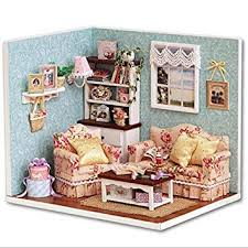 Homemade dollhouse furniture Cheap Amazoncom Build Dollhouse Furniture Cute 3d Diy Dollhouse Reunion With Happiness Creative Wooden Doll House Education Toys For Children Baby Amazoncom Amazoncom Build Dollhouse Furniture Cute 3d Diy Dollhouse Reunion
