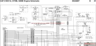 peterbilt cat c10 c12 3176b 3406e engine schematic sk24807 more the random threads same category