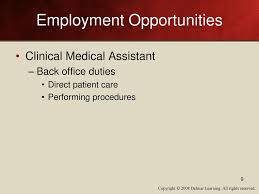 Medical Assistant Back Office Duties Professional And Career Responsibilities Ppt Download