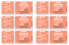 Template For Raffle Tickets To Print Free 45 Raffle Ticket Templates Make Your Own Raffle Tickets