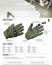 Wiley X Gloves Size Chart Wiley X Durtac Smarttouch Gloves Black E Militaria Eu