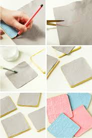how to make your own Diy Stamped Clay Coasters.