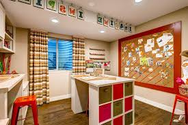 orange home office. Bulletin Board Design Ideas Home Office Traditional With Rustic Wood Floor Craft Room Orange