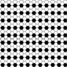 Soccer Ball Pattern Inspiration SCORE BLACK WHITE GEO SOCCER BALL PATTERN FABRIC EBay