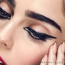 graphic eyeliner with a double wing twist let your eyes do the talking with this