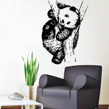 panda wall decals animals bear home interior design art mural living room decor vinyl decal sticker on wall art murals vinyl decals stickers with vinyl stickers