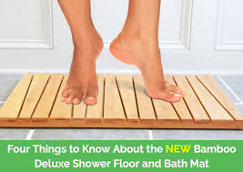 key features of the toilettree s bamboo shower floor and bath mat