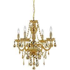 gold chandelier af lighting naples 4 light gold mini
