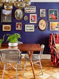 Eclectic home office alison Shabby Chic This Antique Lovers Home Is Master Class In Gallery Wall Curation Domino Home Tours Domino