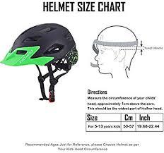 Exclusky Kids Child Boys Cycle Helmets For Bike Skating Scooter Adjustable 50 57cm Ages 5 13