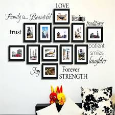 family frame wall decor picture frame wall decals newest warm family rule words photo frame decals