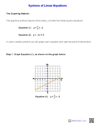 systems linear equations and inequalities simple handout for worksheets
