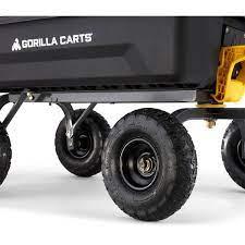 gorilla carts 4 cu ft poly garden