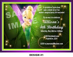 Tinkerbell Invitations Printable Tinkerbell Birthday Invitation Templates Zaloy