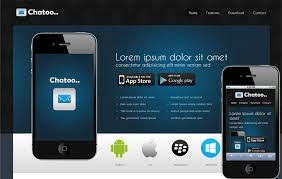 Mobile Website Template Enchanting Chatoo A Application Mobile Website Template By W28layouts