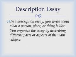 kind of essays description essay 6