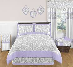 elizabeth lavender and gray full queen bedding collection enlarge