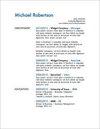 12 Resume Templates For Microsoft Word Free Download Down