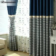 full image for navy ticking stripe shower curtain navy striped curtains target simple navy polyester blackout