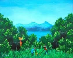 Eric Paul Hector (Haitian, 1958), 'Fields', 1980   Haitian art, Caribbean  art, Art for sale online