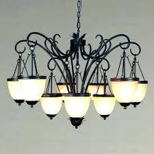 outdoor candle chandelier rustic