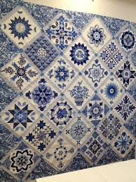 Best 25+ Blue quilts ideas on Pinterest | Quilt patterns, Baby ... & Antique Wedding Sampler by Di Ford - blue and white version - blissfully  blue and white pattern Adamdwight.com