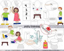 girl pants down potty training clipart clipartfest potty training clipart set