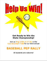 Rally Templates Sports Pep Rally Flyer For School