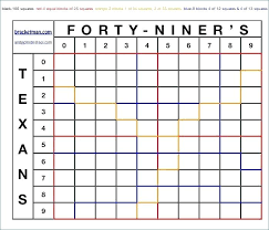 Printable 25 Square Football Pool Grid Squares Template Excel Weekly ...