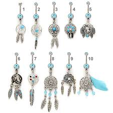 Dream Catcher Belly Button Rings Dreamcatcher Belly Button Ring Collection 22