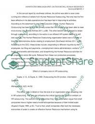 annotated bibliography outsourcing human resource management essay annotated bibliography outsourcing human resource management essay example